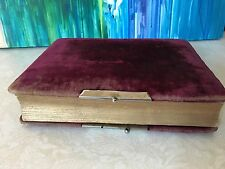 Antique Photo Picture Album Red Velvet Portraits Victorian 1940's