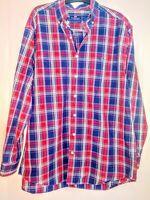 Vineyard Vines Classic Fit Tucker Shirt Men's Plaid Button Down Long Sleeve L