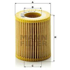 Mann HU711/4x Oil Filter Element Metal Free 74mm Height 64mm Outer Diameter