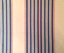 DESIGNERS GUILD William Yeoward Bodmin Polperro Stripe Blue Red Remnant New