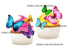 37 BUTTERFLIES STAND UP Cupcake Fairy Cake Topper Edible Paper Decoration edible