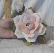Vintage Porcelain Rose Night Light with Tags