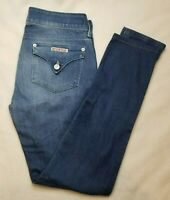 Woman's Hudson Denim Jeans Made in the USA Dark Blue Flap Pockets Size 27 Skinny