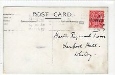 "RMS ""LUSITANIA & MAURETANIA"": Cunard postcard with CARDIFF PAQUEBOT pmk (C24191)"