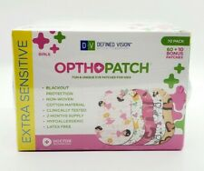 Optho-Patch Kids Eye Patches - Fun Girls Design - 70 Pack Extra Sensitive Sealed