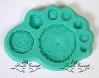 Middle of flower Silicone Mould Mold  Fimo Sugarcraft Cupcake Topper