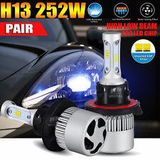 2x H13 9008 Philips 252W 25200LM LED Headlight Kit 6500K White Bulbs High Power