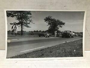 "VINTAGE ORIGINAL GREAT LAKES DRAGWAY 1950/60'S S  DRAG RACING B&W 8"" X 5"" PHOTO"