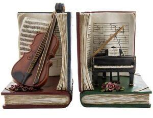 Victorian Trading Co Forte Vintage Music Cello & Baby Grand Piano Bookends