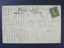 Woodbine Illinois Jo Daviess 1909 Type 3/3 Doane Cancel DPO 1874-1962 Postcard