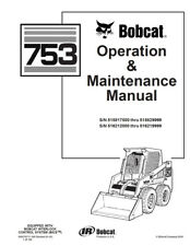 Heavy equipment manuals books for excavator ebay new bobcat 753 skid steer operation maintenance manual 6900969 free shipping fandeluxe Images