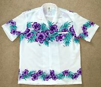 VTG Royal Creations Mens Aloha Hawaiian Shirt 100% Polyester Large