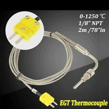 New Listing1pcs Egt K Type Thermocouple Exhaust Probe Temperature Sensors Stainless Steel