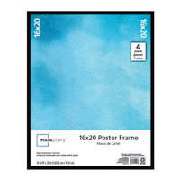 """Large Basic Poster & Picture Frame Black Art Photo Rectangle 16"""" x 20"""" inch"""
