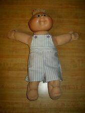 "15"" CPK Cabbage Patch Kids Preemie PURPLE STRIPED OVERALLS SHORTALLS SUNSUIT"