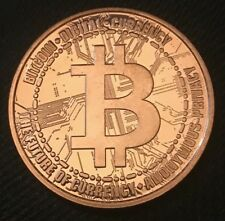 1 OZ COPPER ROUND BITCOIN DIGITAL CURRENCY - THE FUTURE CURRENCY