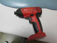 """Hilti SID 121-A  CORDLESS 1/4"""" IMPACT screw gun bare tool only  used(77)"""