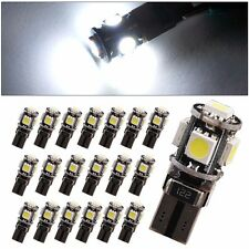 20 X White Canbus Error Free Car T10 LED 5-smd Wedge Light Bulb W5W 194 168 2825