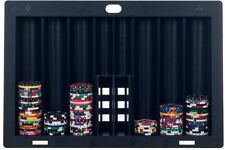 Poker Table Caddy Chip Tray 300-Chips Display Cards Holder Organizer Black New