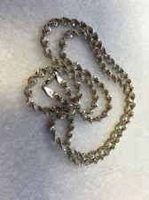 "Vintage Sterling Silver 925 Twisted Spiral Herringbone 30"" Necklace 21.2g"