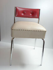 50er 60er STUHL Kunstleder Chrom 50s 60s american diner bistro stool leatherette