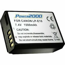 Power2000 LP-E10 Battery for Canon EOS Rebel T3, T5, T6, T7 SLR Camera (LPE10)
