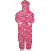 NEW PAUL FRANK GIRLS SOFT FLEECE PINK PJ WITH HOOD PJ PYJAMAS SIZE 4,5,6,7