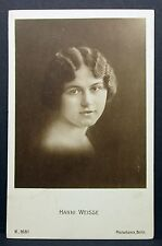 Hanni Weisse-   Actor Movie Photo - Film Autogramm-Karte AK (Lot-Z-735)