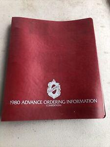 1980 Oldsmobile Advance Ordering Information Confidential Dealer Book Original