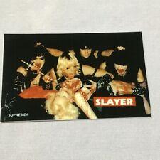New SUPREME SLAYER STICKER Bloody Altar Hardcore Rock Metal PRODUCTION SAMPLE og