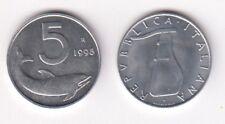 1998 Italia Lire 5 Delfino Fior di Conio Unc