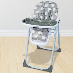Cuggl Deluxe Little Sheep 6 Position Reclining feeding Highchair up to 3 yrs