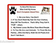 Funny Exotic Cat Rules Refrigerator Magnet