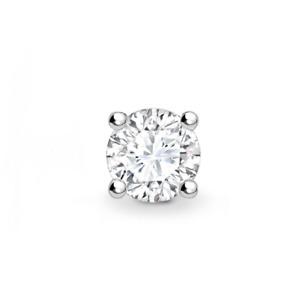 Single Diamond Stud Earring - Round Diamond White Gold Ladies Gents 0.05 Carat