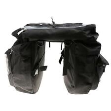 43L Large Bike Rear Pack Double Pannier Cargo Saddle Bags Touring Commuter