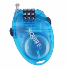 Squire Retractable Combination Lock Bike lock Blue Transparent