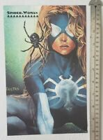 Marvel Masterpieces Spider-Woman RARE Print Advertisement