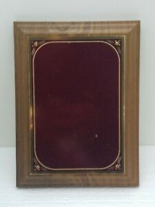 """America's Favorite Honor Award Plaque Solid Walnut  8"""" X 6"""" Red Brass/Gold Trim"""