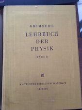 Grimsehl Lehrbuch Der Physik Band II 14. Auflage