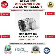 DENSO ARIA CONDIZIONATA COMPRESSORE AC FIAT BRAVA 182 1.4 12V 1995-1998 OEM: