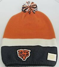 NFL Chicago Bears Multi-Color OSFA Retro Sport Knit Hat With Pom By Reebok