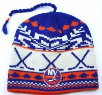 New York Islanders Reebok NHL Tassel Winter Knit Hockey Hat/Beanie/Toque