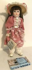 """Heritage Mint Americas 16"""" Bisque Porcelain Doll """"Emilly"""" Never Displayed W/Box"""