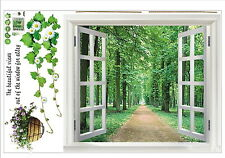 3D View Flowers Plant Wall Stickers Art Mural Decal Wallpaper - Set of 2