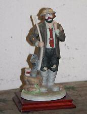 Emmett Kelly Jr.EKJ Collectibles Full Size Fisherman figurine w/box&base&clown!