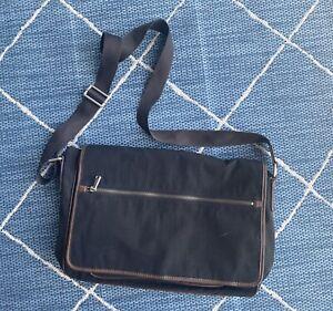 Fossil Messenger Bag Crossbody Shoulder Bag Black/Brown
