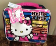 Hello Kitty Full Size Fabric/Plastic Zip-Up Lunch Box/Bag Nwt Ships From Usa