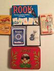 Lot Of 6 Vtg. Playing Cards Coca-Cola, Rook, Budweiser, Sealed Dough Boy, Reagan