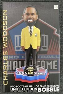 CHARLES WOODSON 2021 NFL Hall of Fame Bobblehead Brand NIB Green Bay Packers