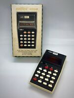 Vintage 1975 DATAMATH CALCULATOR: Calfax Model 890P - RED LED AND BOXED
